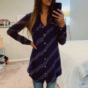 Quiksilver // Long Sleeve Button Up Tunic